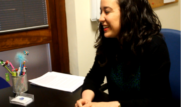 Fotograma de la entrevista a Raquel Busto